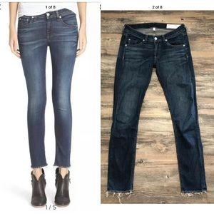 - Rag & bone orson raw hem skinny blue jeans…
